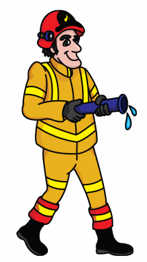 Firefighter clipart occupation.