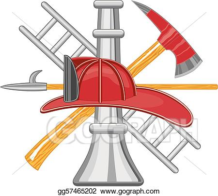 Firefighter clipart tool.