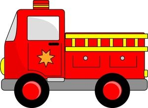 fire truck clipart easy