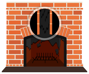 Firewood clipart chimney fire.