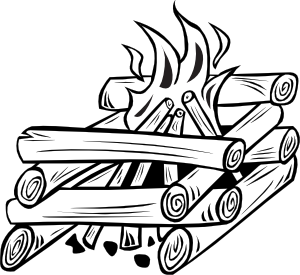 campfire clipart outline