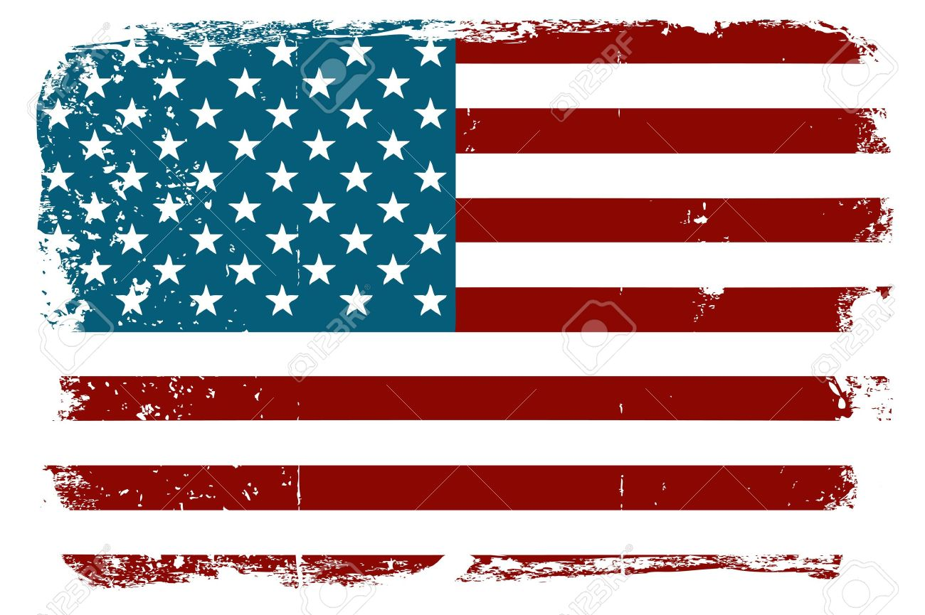 us flag clipart distressed