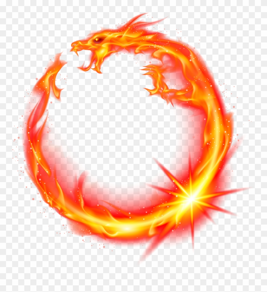 Flame clipart dragon.