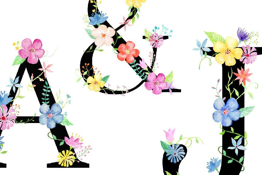 letter a clipart flower