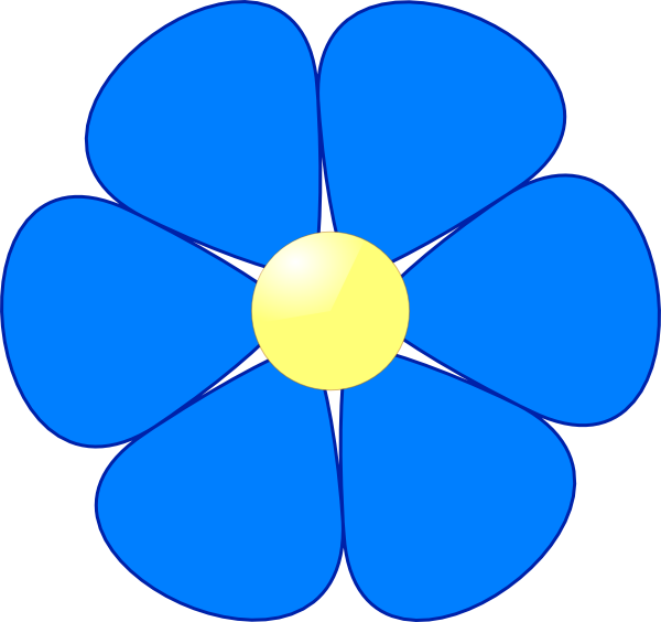free clipart flowers blue