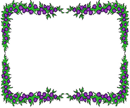 picture frame clipart flower