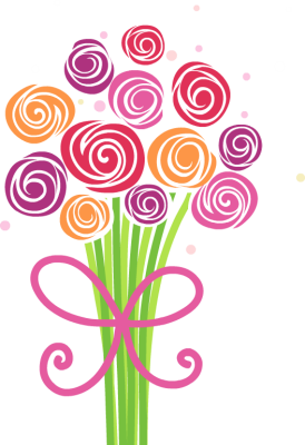 flower bouquet clipart thank you