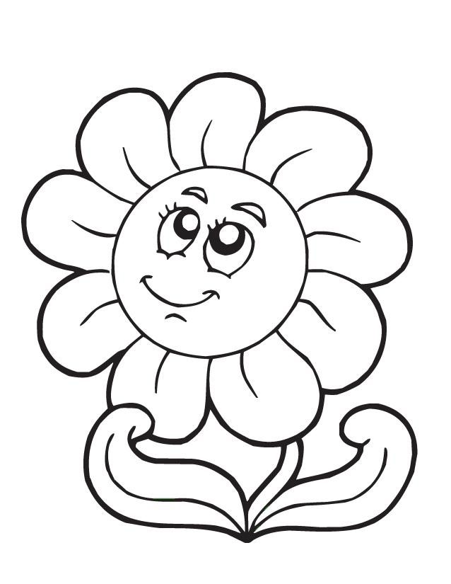 flower black and white clipart cartoon
