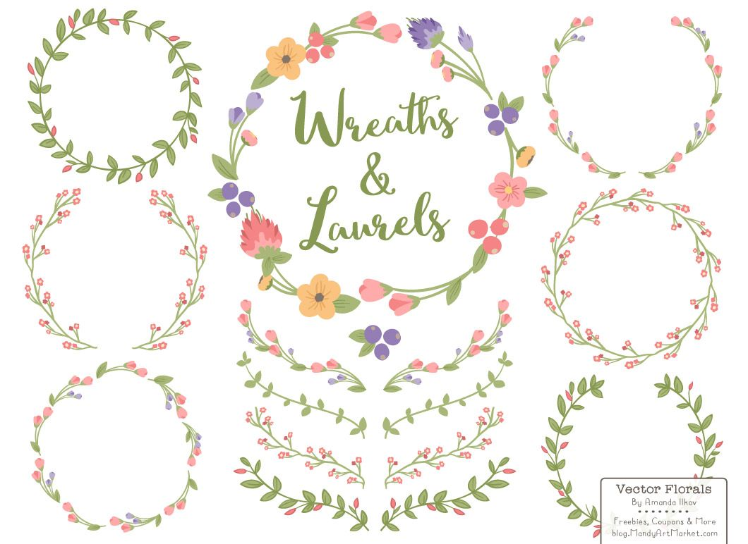 free floral clipart wreath