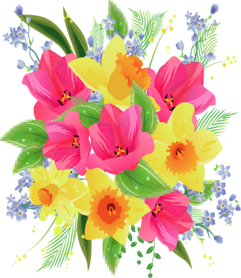 flower bouquet clipart birthday