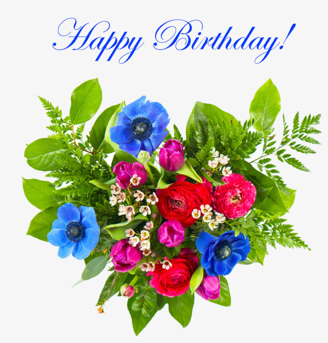 flower bouquet clipart happy birthday