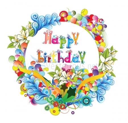 happy birthday clipart for her flower