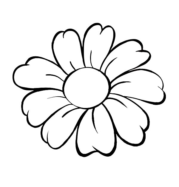 flower black and white clipart printable
