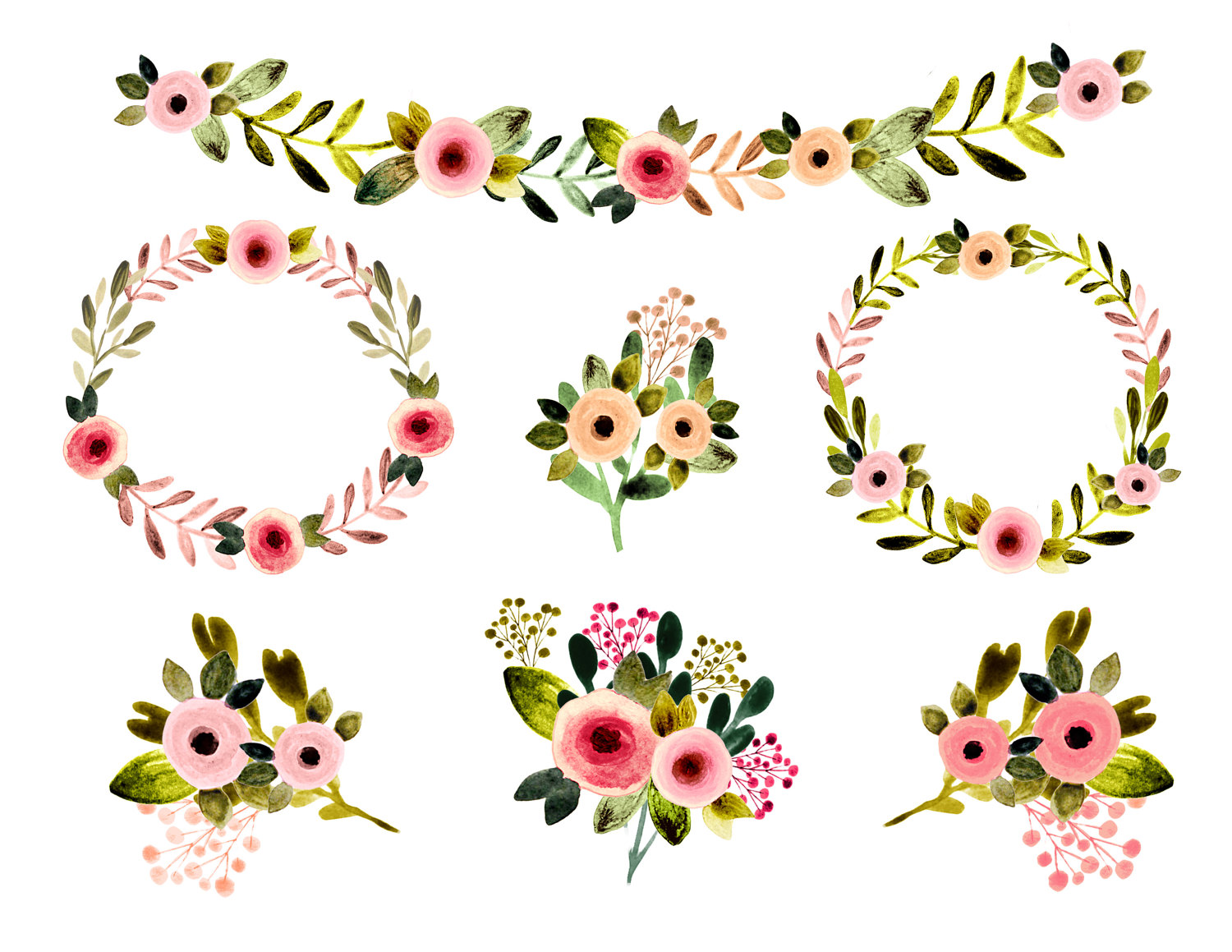 Clipart flowers rustic.