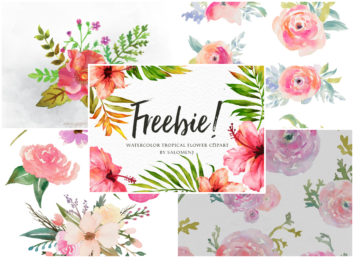 free floral clipart watercolor flower