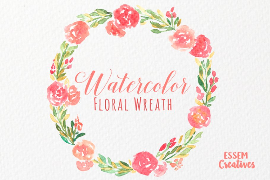 wreath clipart watercolor
