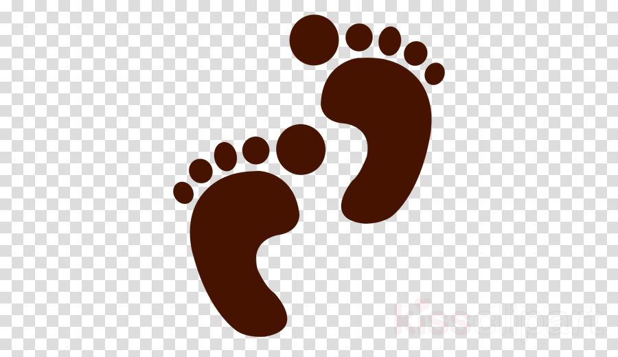 Footprint clipart illustration.