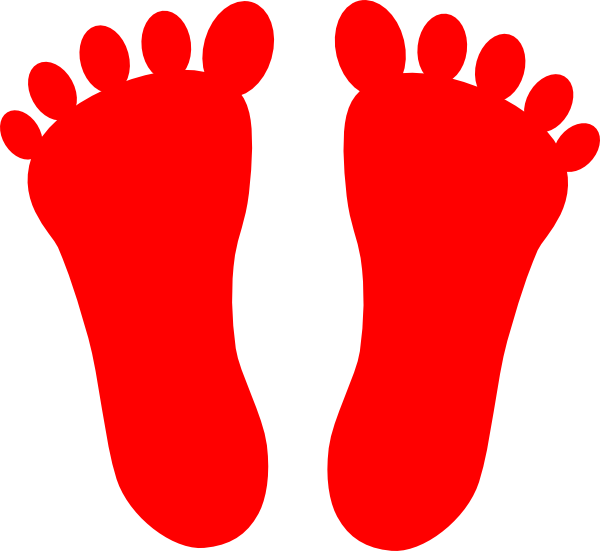 foot clipart red