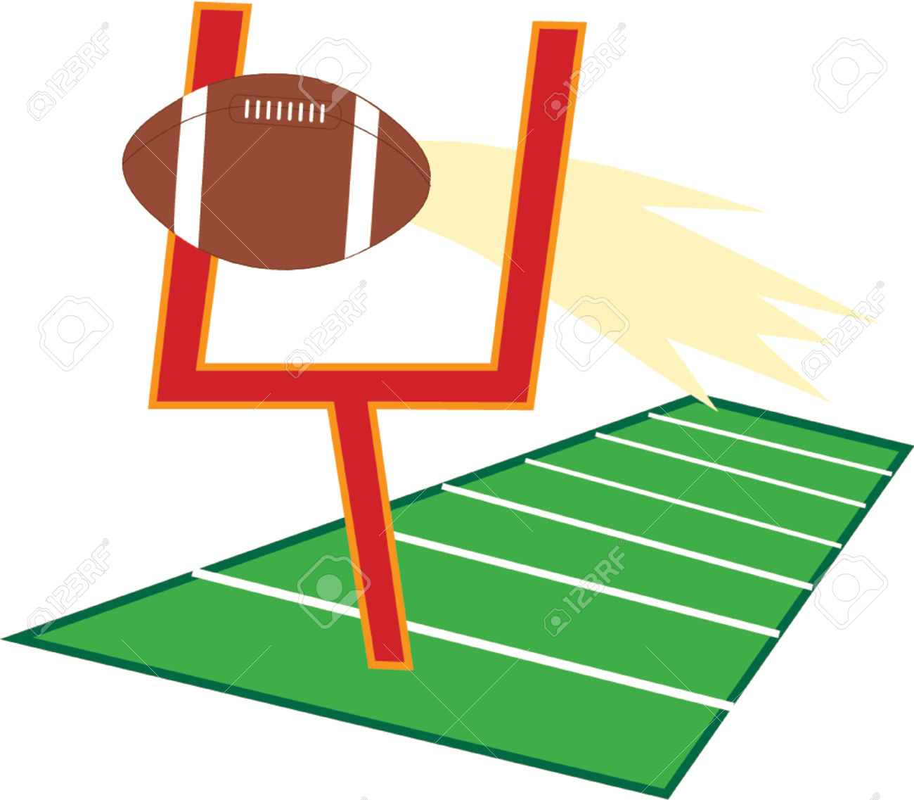 fottbal clipart goal post