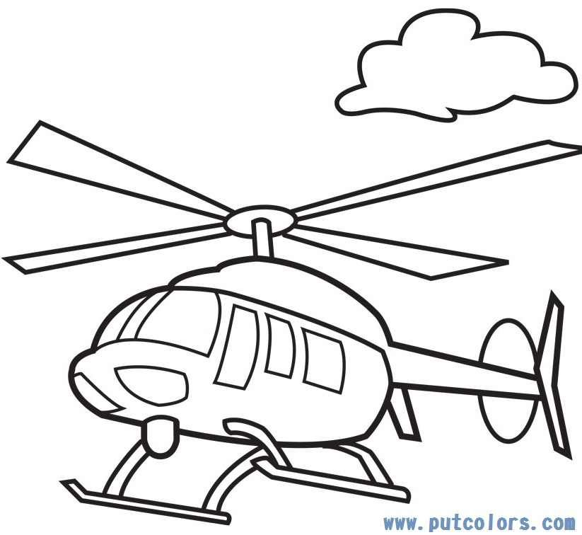 helicopter clipart outline