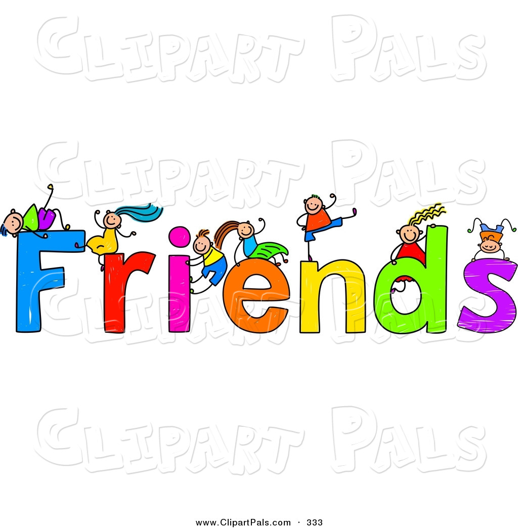 Word clipart friends.