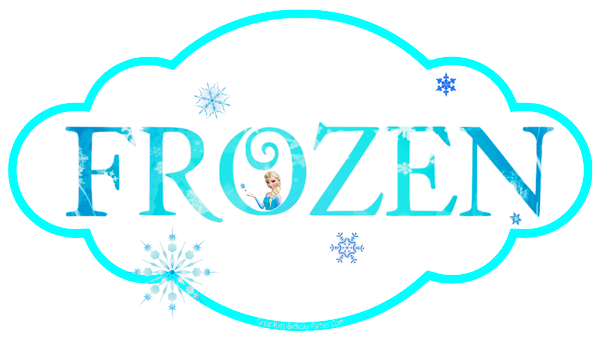 Frozen clipart frozen word.