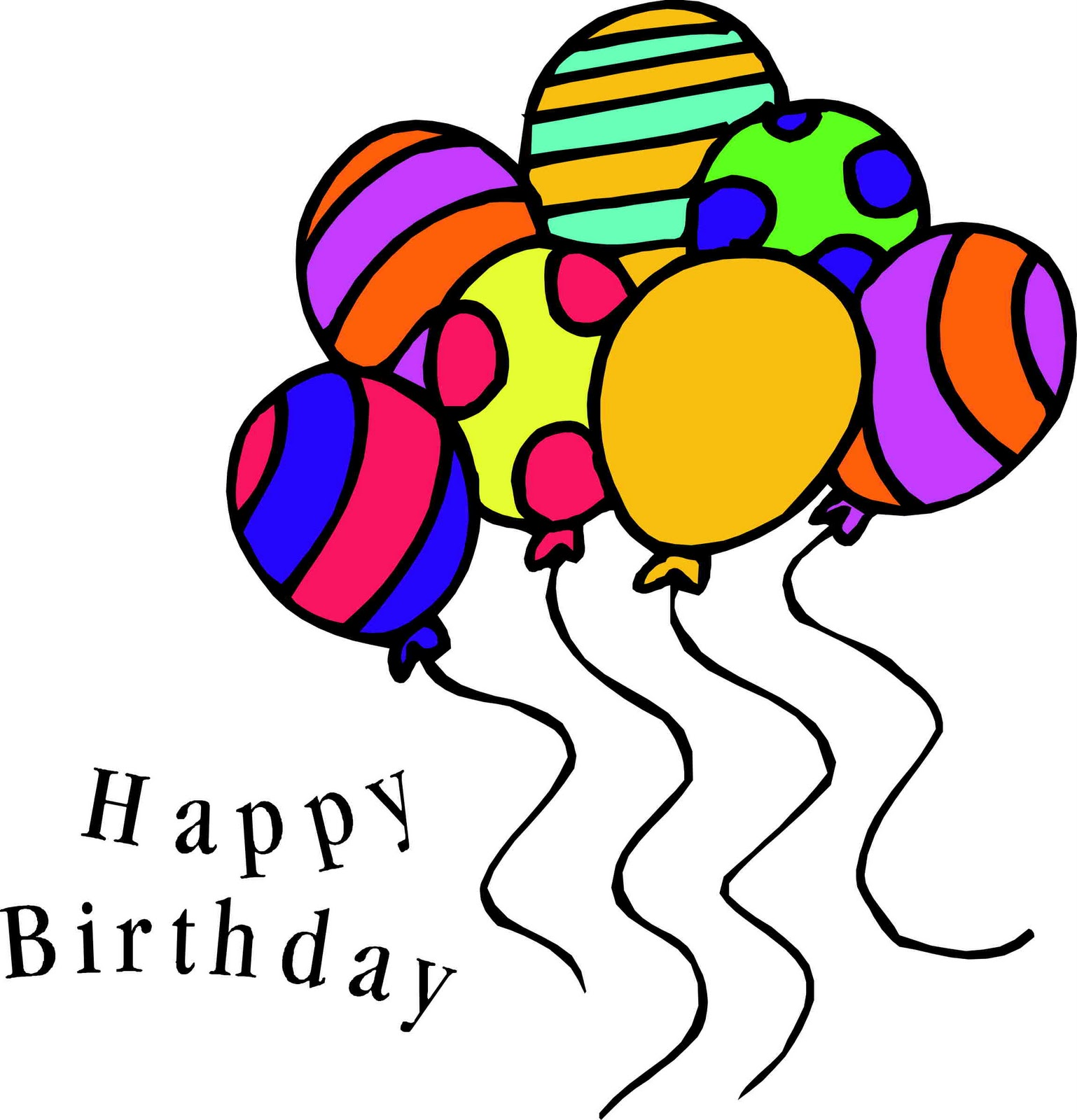 happy birthday clipart for her 50th