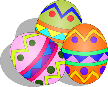 egg clipart colored
