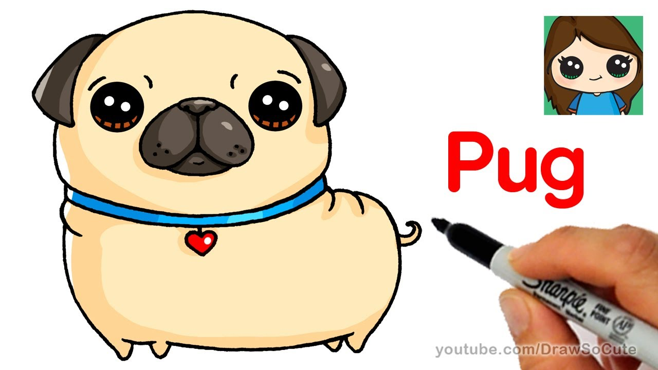 pug clipart happy