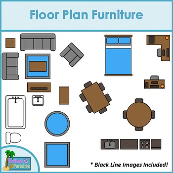 furniture clipart floor plan