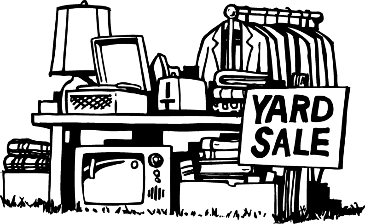 garage sales clipart black and white