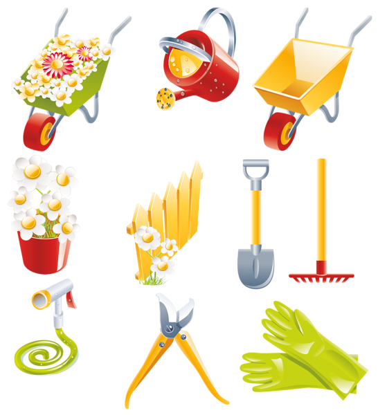 Set clipart spring.