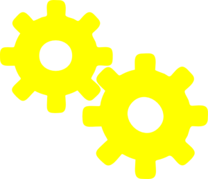 gears clipart yellow