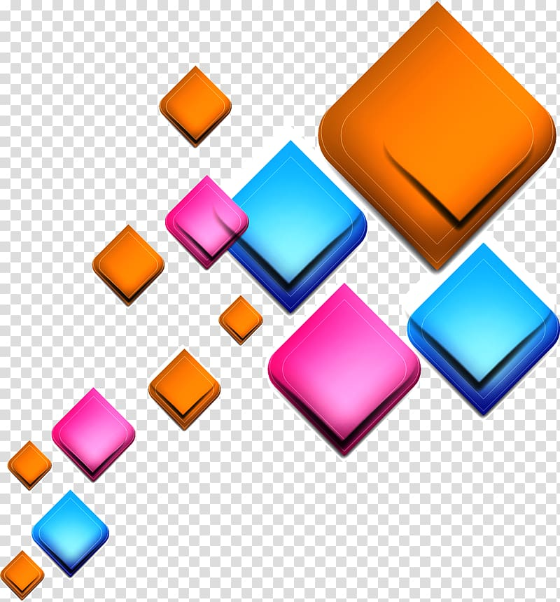 cube clipart colorful