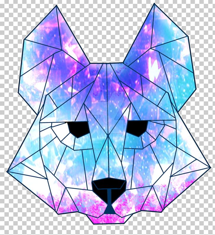 Geometrical clipart wolf.