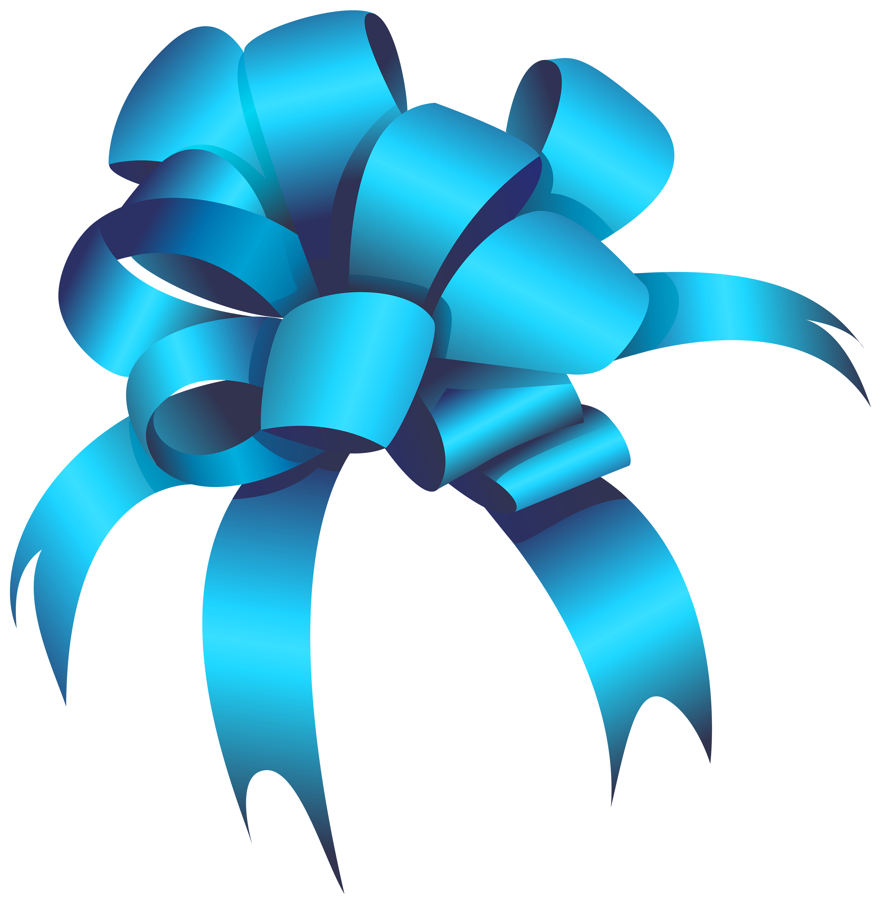 bow clipart blue