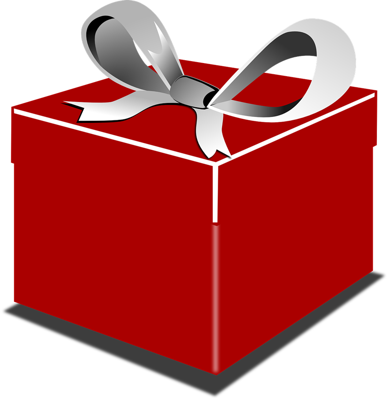 Gift clipart red.