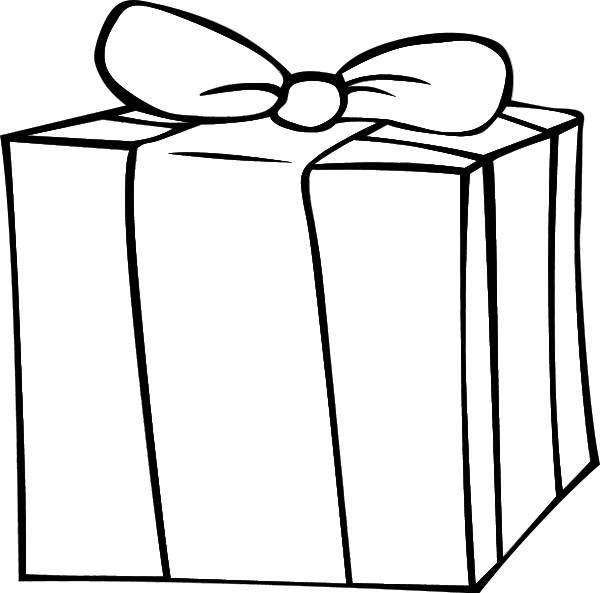 Gift clipart drawing.