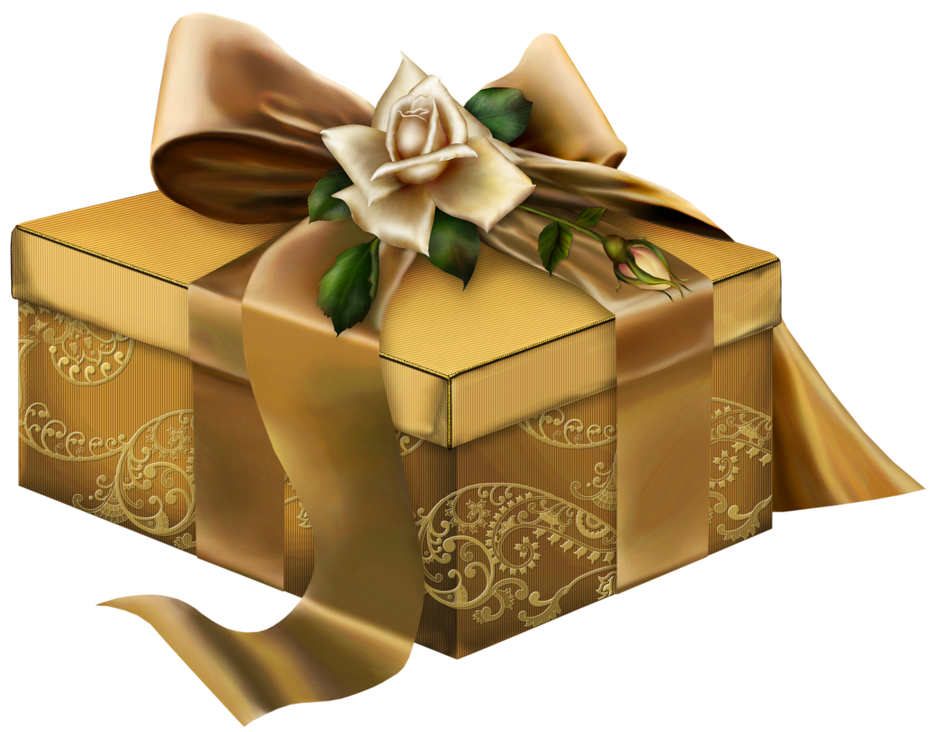 Gift clipart gold.