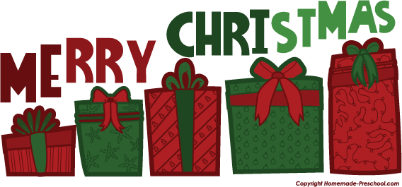 Gift clipart row.