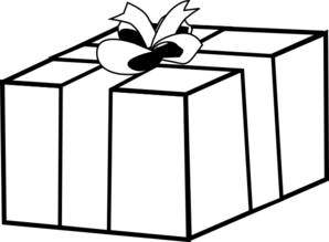 Gift clipart present outline.