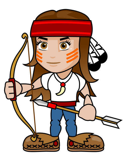 archery clipart woman