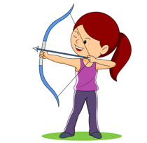 archery clipart man