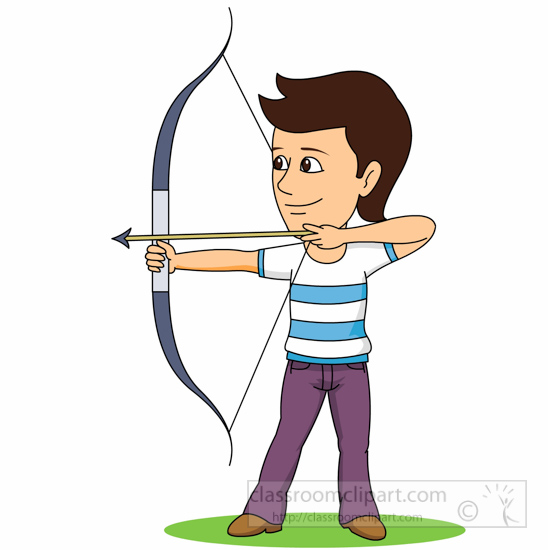archery clipart kid