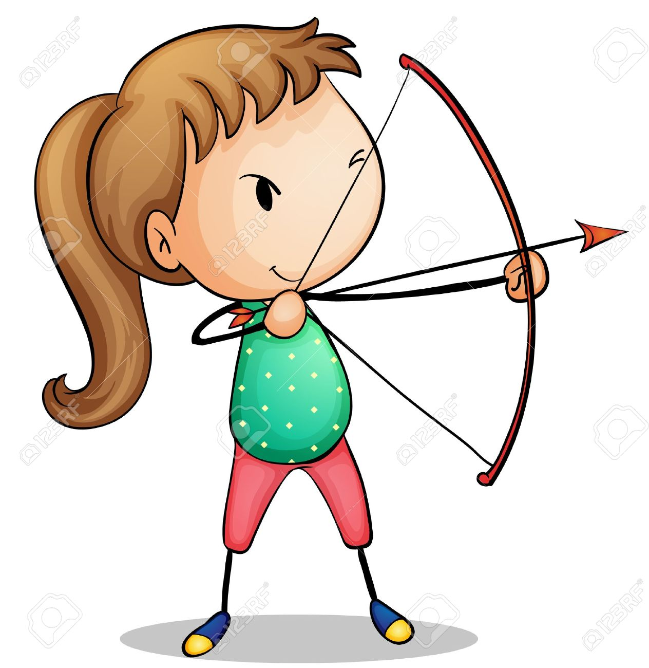archery clipart cartoon