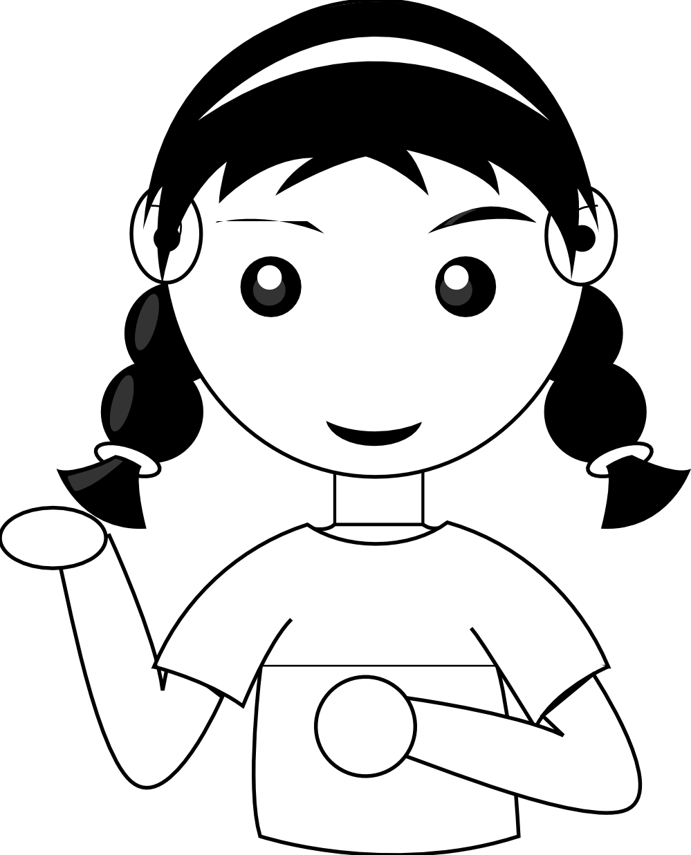 boy clipart black and white face