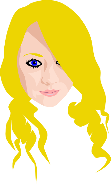 Girl clipart blonde hair.