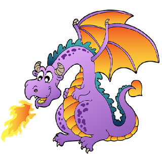 Girl clipart dragon.