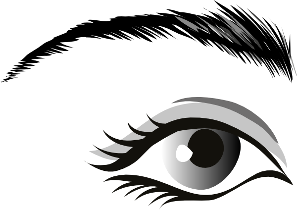Girl clipart eye.