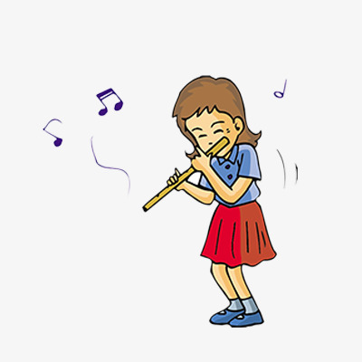 flute clipart playing
